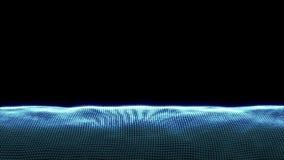 Abstrakte Bewegung, glänzende Lichter, Energiewellen und funkelnde Feuerwerke reden die Partikel an, nahtlos vektor abbildung