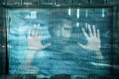 Abstrakte Binärzahlen mit einem Mann Lizenzfreie Stockbilder