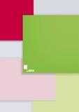 Abstrakte Blätter der verschiedenen Farbe Stockfotos