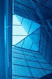 Abstrakte blaue Architektur Stockfoto