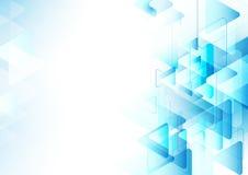 Abstrakte blaue Dreiecke, die mit Raum für Ihren Text wiederholen Stockfotografie