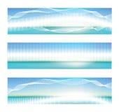 Abstrakte blaue Fahne Stockbilder
