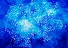 Abstrakte blaue Farbe-bokeh Tapete Lizenzfreies Stockbild