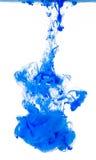 Abstrakte blaue flüssige Farben-Wolke Stockfotografie