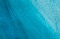 Abstrakte blaue Flussgouachemalerei, Detail stockfotos