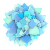 abstrakte blaue Form 3d auf Weiß Stockfotografie