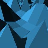 Abstrakte blaue Geometrie der Dreiecke 3D Stockfoto