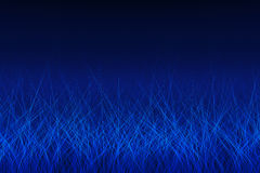 Abstrakte blaue glühende Zeilen Stockfotos