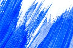 Abstrakte blaue Hand gezeichnetes kreatives backgroun Kunst der Acrylmalerei Stockbilder