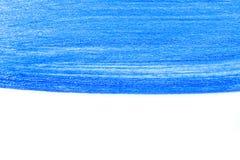 Abstrakte blaue Hand gezeichnetes kreatives backgroun Kunst der Acrylmalerei Stockfotos