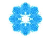 Abstrakte blaue konzentrische Musterform Stockfoto