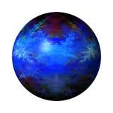 Abstrakte blaue Kugel lizenzfreie abbildung