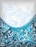 Abstrakte blaue Kurve lizenzfreie abbildung