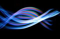 Abstrakte blaue Leuchte Stockbild