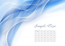 Abstrakte blaue Schablone Lizenzfreies Stockfoto