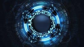 Abstrakte blaue starke Technologiedesignvision lizenzfreie abbildung