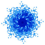 Abstrakte blaue Stelle hintergründe Lizenzfreie Stockbilder