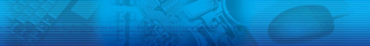 Abstrakte blaue Streifen-Technologie Lizenzfreies Stockbild