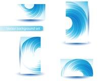Abstrakte blaue vektorschablone und -set Lizenzfreie Stockfotografie