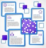 Abstrakte blaue Web-Auslegungquadratfahnenluftblase Lizenzfreies Stockfoto