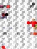 Abstrakte blaue weiße rote schwarze geomatics Blocktapete Lizenzfreies Stockfoto