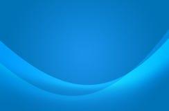 Abstrakte blaue Welle stockfoto