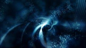 Abstrakte blaue Welle mit Punkten und Linie für Hintergrund Lizenzfreie Stockfotografie