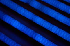Abstrakte blaue Zeilen Ablichtung Stockfotos