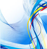 Abstrakte blaue Zeilen Schablone Lizenzfreies Stockbild