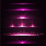 Abstrakte Blendenfleck-Sammlung Glühende Sterne Lizenzfreie Stockfotografie