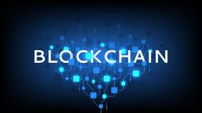 Abstrakte Blockchain-Konzept Fahne Lizenzfreie Stockfotos