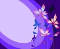 Abstrakte Blume auf buntem Streifenhintergrund Lizenzfreie Stockfotos