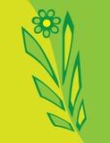 Abstrakte Blume in den Farbtönen des Grüns stock abbildung