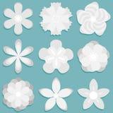 abstrakte Blume des Origamis 3d Papierblumen eingestellt lizenzfreie abbildung