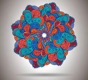 Abstrakte Blume des Vektors mit Blumenverzierung lizenzfreie abbildung
