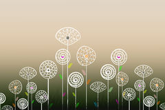 Abstrakte Blumen vektor abbildung