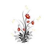 Abstrakte Blumen Stockbild