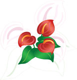 Abstrakte Blumen Stockfoto
