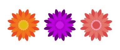 Abstrakte Blumen auf weißem Hintergrund Vektor Stockbilder