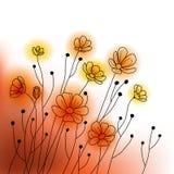 Abstrakte Blumen-Auslegung Stockbilder