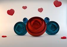 Abstrakte Blumen, 3D Stockfotografie