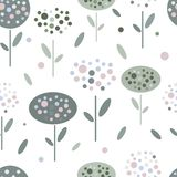 Abstrakte Blumen in der grafischen flachen Art vektor abbildung