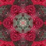 Abstrakte Blumen-Mandala in der rosa Grenadine und im Grau Lizenzfreie Stockfotografie