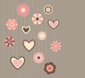 Abstrakte Blumen und Innere stock abbildung