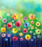 Abstrakte Blumenaquarellmalerei Lizenzfreie Stockfotografie