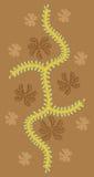 Abstrakte Blumenauslegung   Lizenzfreies Stockfoto