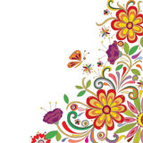 Abstrakte Blumenauslegung Lizenzfreie Stockbilder
