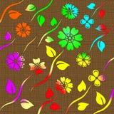 Abstrakte Blumenauslegung Lizenzfreie Stockfotos