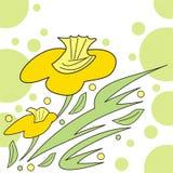 Abstrakte Blumenauslegung stock abbildung