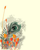 Abstrakte Blumenauslegung lizenzfreie abbildung